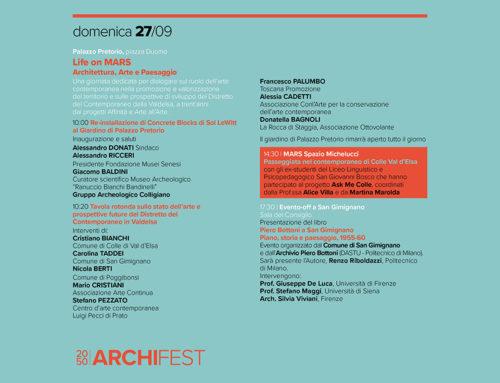 2050 Archifest. Abitare il Mondo altrimenti, Festival dell'Architettura di Colle Val d'Elsa.